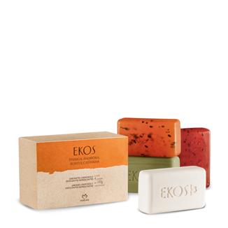 Ekos - Jabones en barra - Cremosos y exfoliantes refrescantes