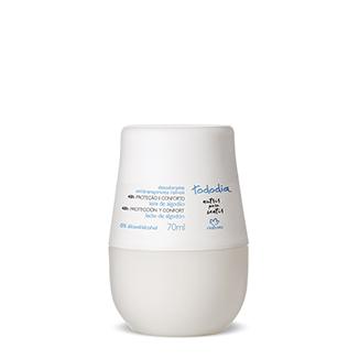 Tododia - Desodorante antitranspirante roll-on - Leche de Algodón