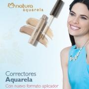 Correctores Natura Aquarela e imagen de mujer