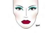 máscara de mujer maquillada con productos Natura Una