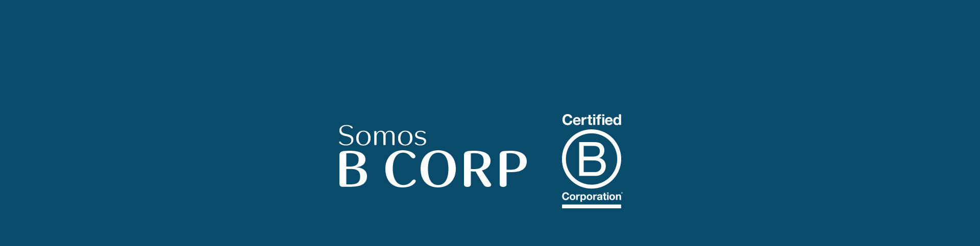 Isologotipo del certificado B Corp